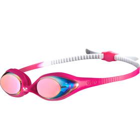 arena Spider Mirror - Gafas de natación Niños - rosa/blanco